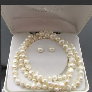 Pearl Jewelry - Sterling & fresh water Pearl Jewelry Set 40.38g